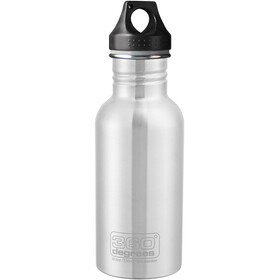 360° degrees Stainless Trinkflasche 550ml steel